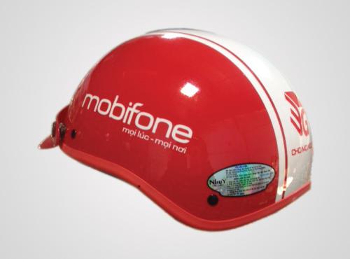 Nón bảo hiểm quảng cáo của Mobifone