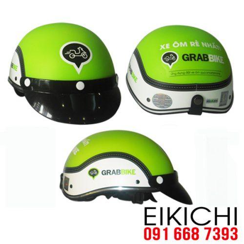 Mẫu nón bảo hiểm quảng cáo Grabbike làm quà tặng ở TPHCM xưởng sản xuất EiKiChi