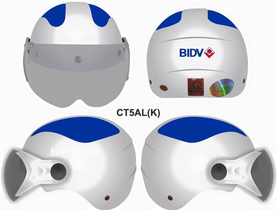 Nón quảng cáo ngân hàng BIDV của xưởng nón bảo hiểm EiKiChi