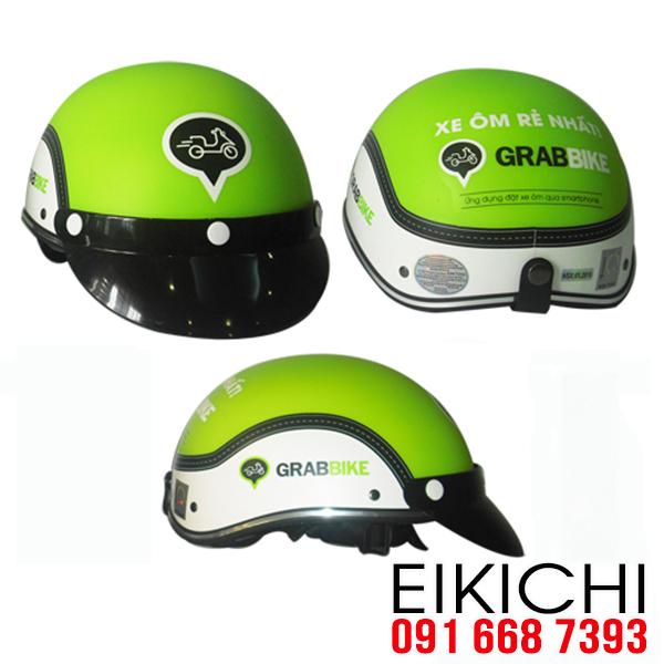 Dịch vụ xe ôm Grab Bike làm mũ bảo hiểm