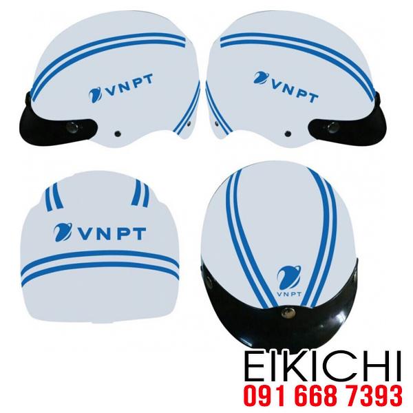 Công ty viên thông VNPT làm mũ bảo hiểm