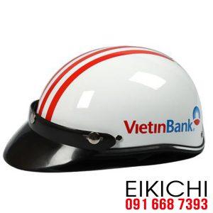Mẫu mũ bảo hiểm ngân hàng ViettinBank