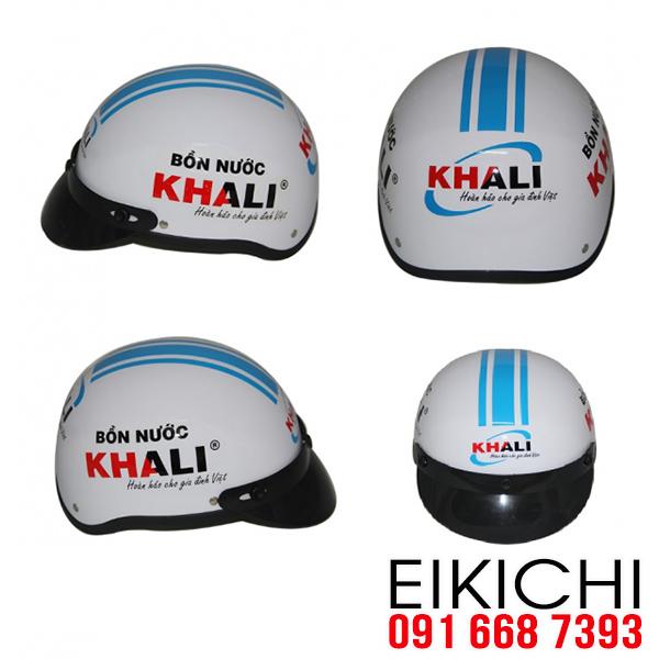 Mũ bảo hiểm của công ty Bồn nước Khali