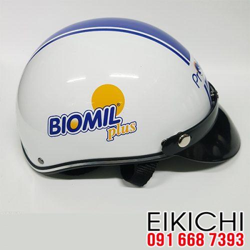 Mẫu nón quảng cáo công ty Biomil Plus QC 092 làm quà tặng ở TPHCM xưởng sản xuất EiKiChi