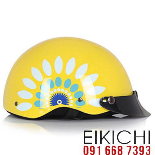 Mẫu nón bảo hiểm quảng cáo Haly làm quà tặng ở TPHCM xưởng sản xuất Eikichi