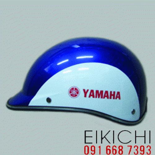 Mẫu nón bảo hiểm quảng cáo Chính Hãng Yamaha làm quà tặng ở TPHCM xưởng sản xuất Eikichi