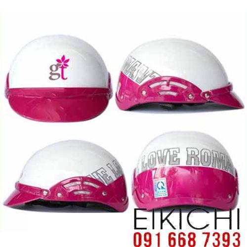 Mẫu nón bảo hiểm quảng cáo GT làm quà tặng ở TPHCM xưởng sản xuất Eikichi