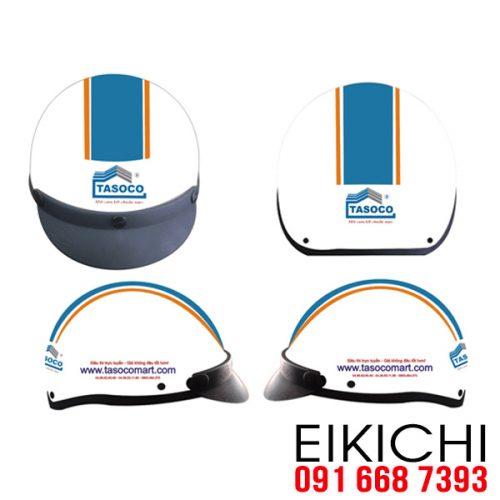 Mẫu nón bảo hiểm quảng cáo Tasoco làm quà tặng ở TPHCM xưởng sản xuất Eikichi