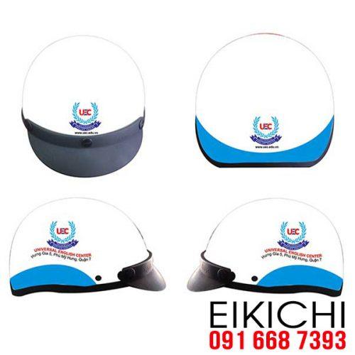 Mẫu nón bảo hiểm quảng cáo Universal làm quà tặng ở TPHCM xưởng sản xuất Eikichi
