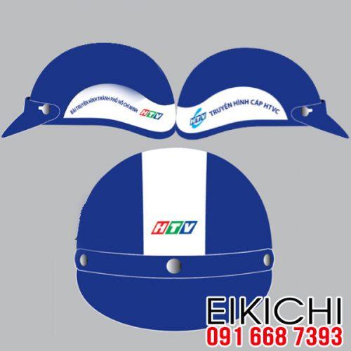 Mẫu nón bảo hiểm quảng cáo Truyền Hình HTVC làm quà tặng ở TPHCM xưởng sản xuất EiKiChi