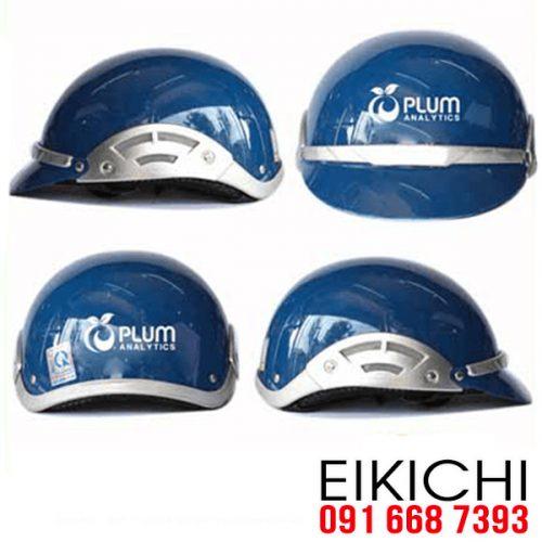 Mẫu nón bảo hiểm quảng cáo Plum làm quà tặng ở TPHCM xưởng sản xuất Eikichi