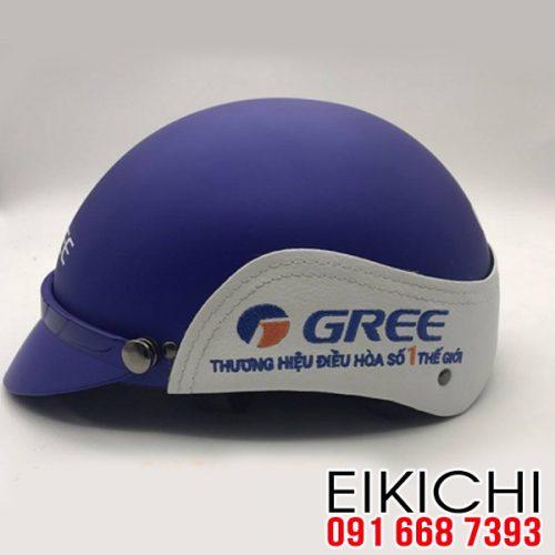 Mẫu nón bảo hiểm quảng cáo Gree làm quà tặng ở TPHCM xưởng sản xuất Eikichi