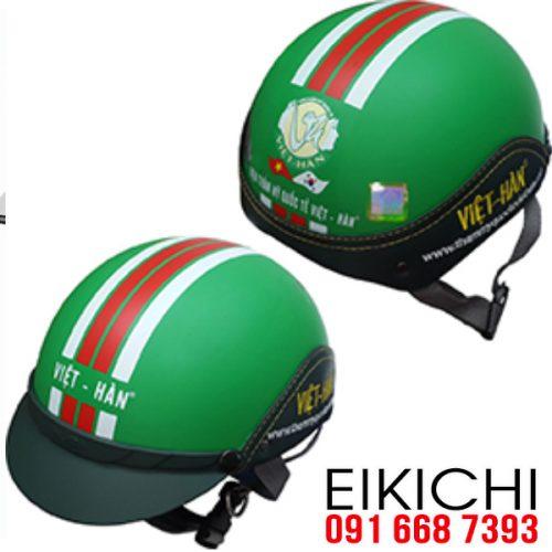 Mẫu nón bảo hiểm quảng cáo Việt Hàn làm quà tặng ở TPHCM xưởng sản xuất EiKiChi
