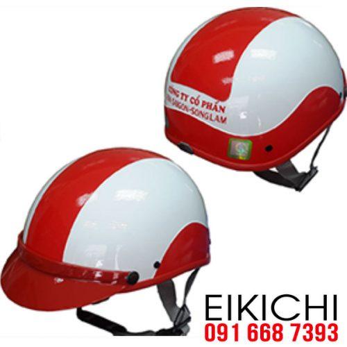 Mẫu nón bảo hiểm Bia Sài Gòn Sông Lam làm quà tặng ở TPHCM xưởng sản xuất EiKiChi