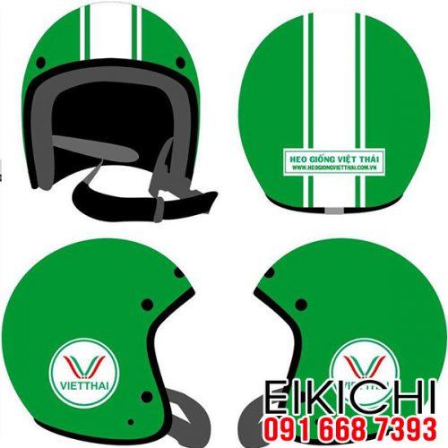 Mẫu nón bảo hiểm quảng cáo Việt Thái làm quà tặng ở TPHCM xưởng sản xuất EiKiChi