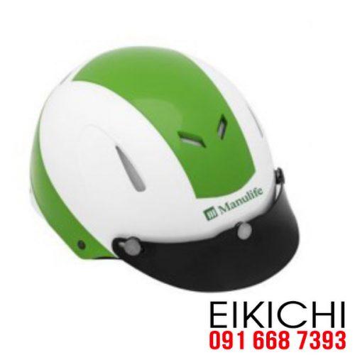 Mẫu nón bảo hiểm quảng cáo Manulife làm quà tặng ở TPHCM xưởng sản xuất EiKiChi
