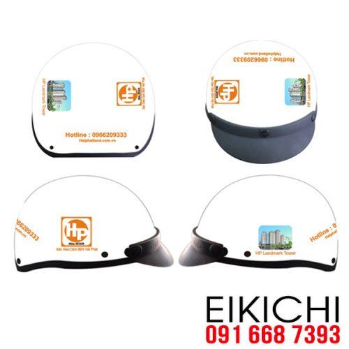 Mẫu nón bảo hiểm quảng cáo Hải Phát làm quà tặng ở TPHCM xưởng sản xuất EiKiChi
