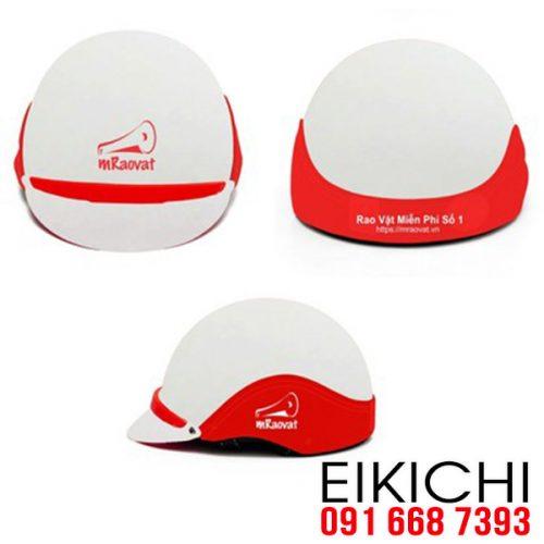 Mẫu nón bảo hiểm quảng cáo Mraovat làm quà tặng ở TPHCM xưởng sản xuất EiKiChi