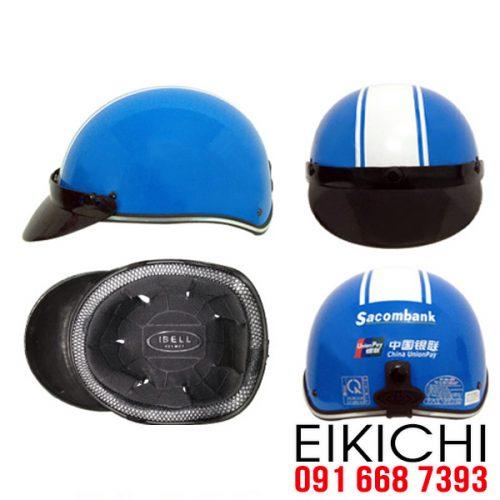 Mẫu nón bảo hiểm quảng cáo Sacombank làm quà tặng ở TPHCM xưởng sản xuất EiKiChi