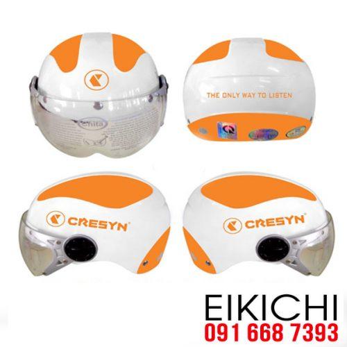 Mẫu nón bảo hiểm quảng cáo Cresyn làm quà tặng ở TPHCM xưởng sản xuất EiKiChi