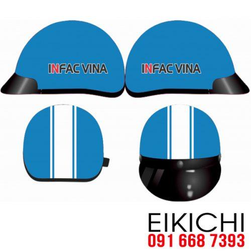 Mẫu nón bảo hiểm quảng cáo Infac Vina làm quà tặng ở TPHCM xưởng sản xuất EiKiChi