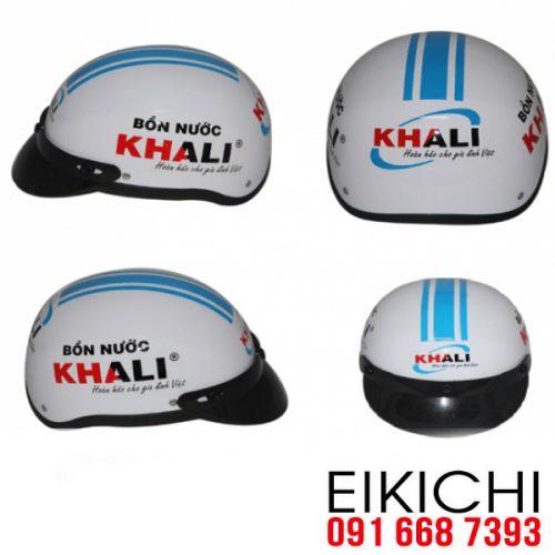 Mẫu nón bảo hiểm quảng cáo Khali làm quà tặng ở TPHCM xưởng sản xuất EiKiChi