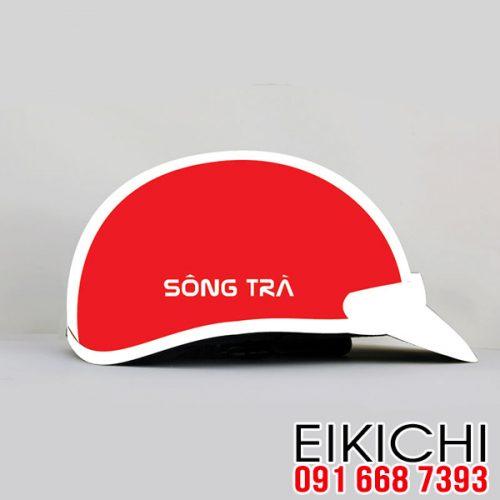 Mẫu nón bảo hiểm Sông Trà làm quà tặng xưởng sản xuất EiKiChi