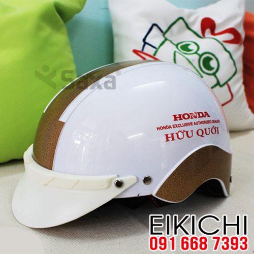 Mẫu nón bảo hiểm đại lý Honda hữu quới xưởng sản xuất EiKiChi