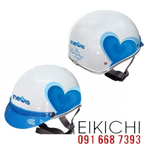 Mẫu nón bảo hiểm quảng cáo Newis làm quà tặng ở TPHCM xưởng sản xuất Eikichi