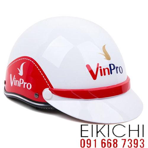Mẫu nón bảo hiểm quảng cáo VinPro làm quà tặng ở TPHCM xưởng sản xuất Eikichi