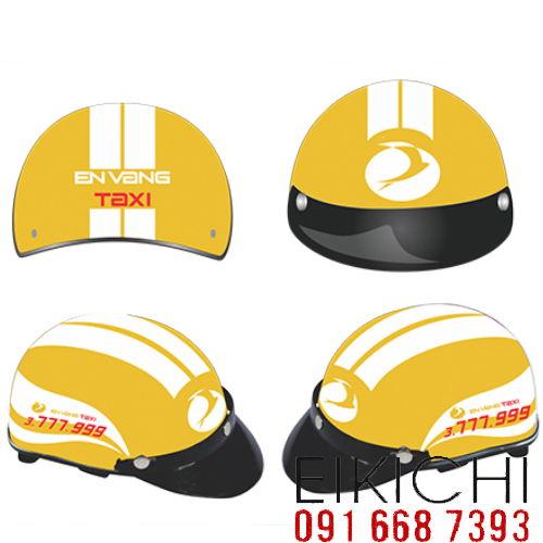 Mẫu nón bảo hiểm quảng cáo Taxi Én Vàng làm quà tặng ở TPHCM xưởng sản xuất Eikichi