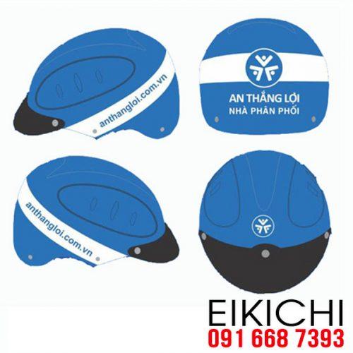 Mẫu nón bảo hiểm quảng cáo An Thắng Lợi làm quà tặng ở TPHCM xưởng sản xuất EiKiChi