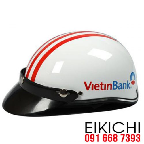 Mẫu nón bảo hiểm quảng cáo Vietinbank làm quà tặng ở TPHCM xưởng sản xuất EiKiChi