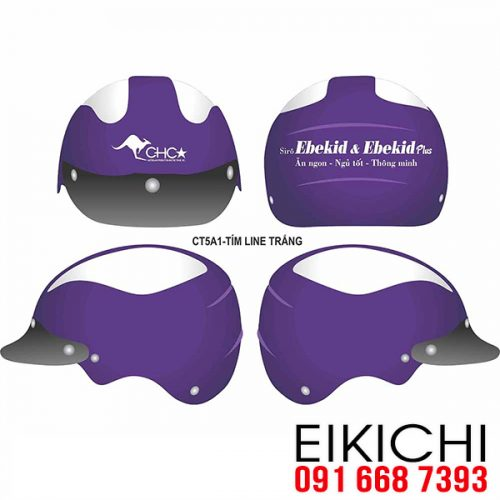Mẫu nón bảo hiểm quảng cáo Bách Hóa Sơn làm quà tặng ở TPHCM xưởng sản xuất EiKiChi