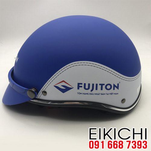 Mẫu nón bảo hiểm quảng cáo Fujiton làm quà tặng ở TPHCM xưởng sản xuất EiKiChi