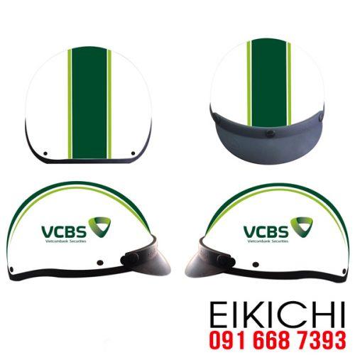 Mẫu nón bảo hiểm quà tặng ngân hàng Vietcombank ở TPHCM xưởng eikichi