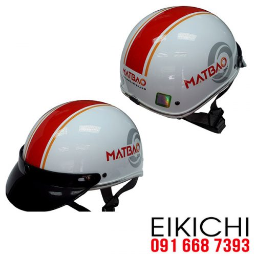 Mẫu nón bảo hiểm quảng cáo Mắt Bão làm quà tặng ở TPHCM xưởng sản xuất EiKiChi
