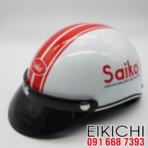Mẫu nón bảo hiểm quảng cáo Saiko làm quà tặng ở TPHCM xưởng sản xuất EiKiChi