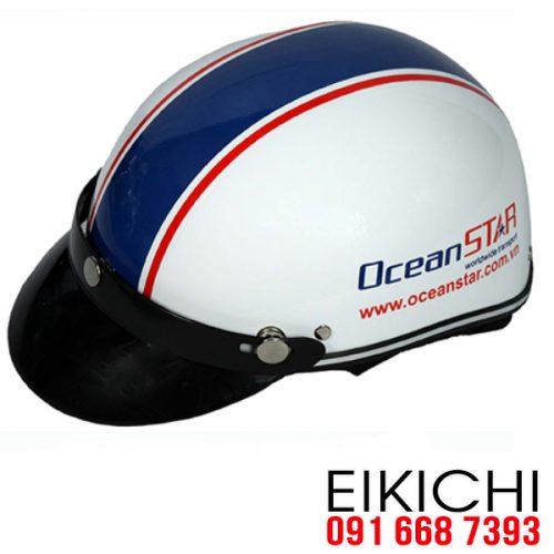 Mẫu nón bảo hiểm quảng cáo OceanStar làm quà tặng ở TPHCM xưởng sản xuất EiKiChi