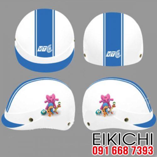Mẫu nón bảo hiểm quảng cáo Truyền Hình VTC xưởng sản xuất EiKiChi