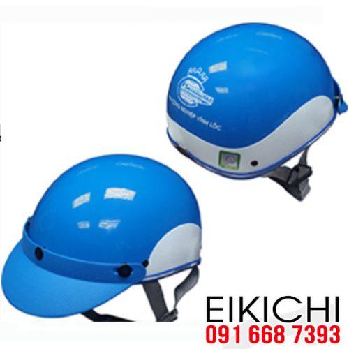 Mẫu nón bảo hiểm quảng cáo KCN Vĩnh Lộc ở TPHCM xưởng sản xuất EiKiChi