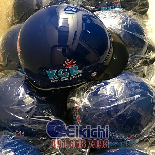 Mẫu nón bảo hiểm đồng hành cùng công ty Cổ phần bia Sài Gòn - Kiên Giang