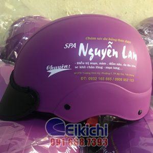 Mẫu nón bảo hiểm quà tặng của spa Nguyễn Lan