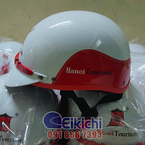 Mẫu nón bảo hiểm của dịch vụ du lịch HaNoi Tourism