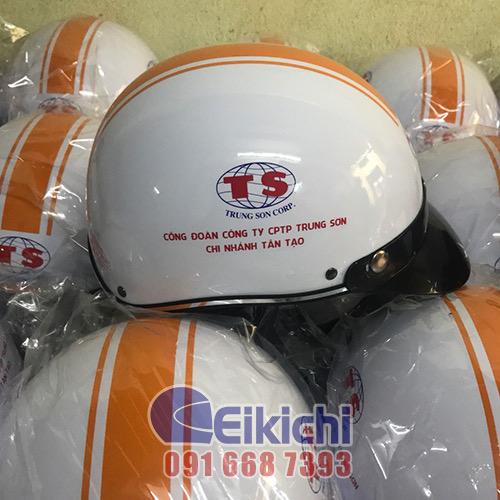 Mẫu nón bảo hiểm cho công ty Trung Sơn - chi nhánh Tân Tạo