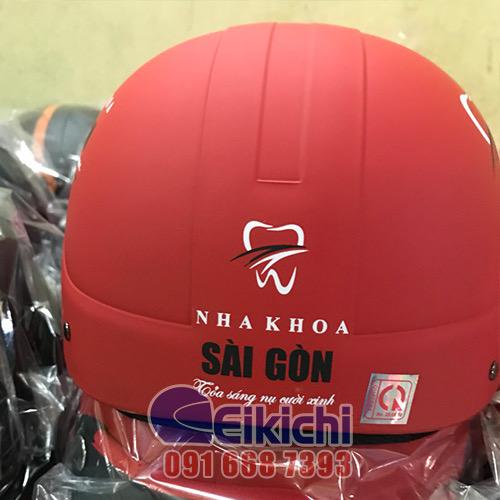 Mẫu nón đỏ đô cho Nha Khoa Sài Gòn