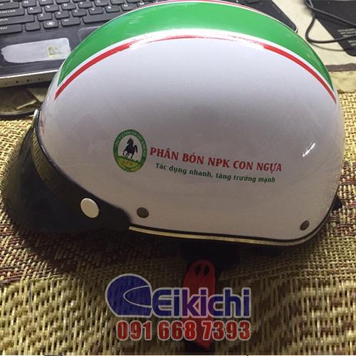 Mẫu nón bảo hiểm quà tặng cho thương hiệu phân bón NKP Con Ngựa