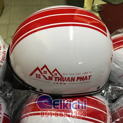 Mẫu nón bảo hiểm gia công cho công ty nhà đất Thuận Phát
