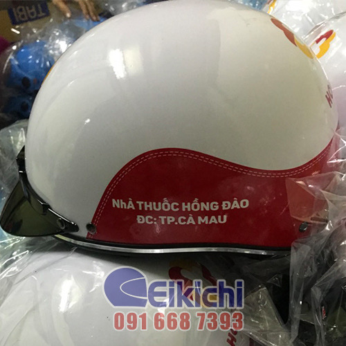 Mẫu nón bảo hiểm tri ân khách hàng của nhà thuốc Hồng Đào