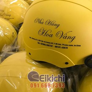 Dịch vụ làm nón bảo hiểm cho nhà hàng ở tỉnh An Giang